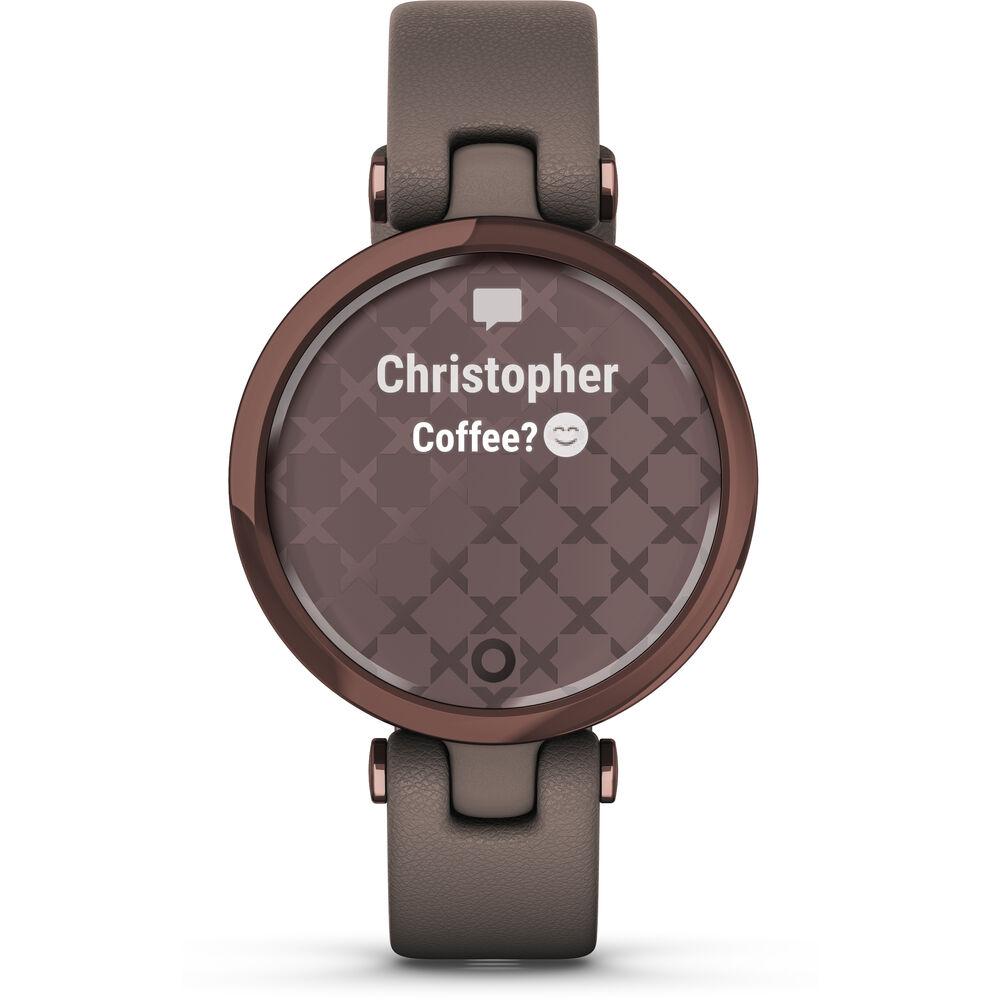 Smartwatch Garmin Lily Classic 010-02384-A0 com GPS/Bluetooth - Dark Bronze